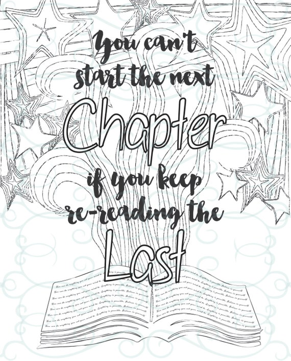 Adult Inspirational Coloring Page printable 07-The Next Chapter from ...