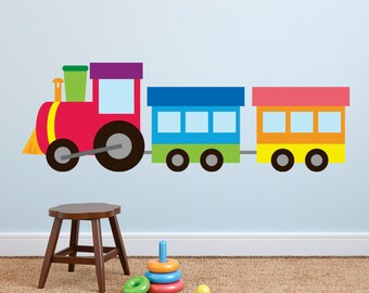 Nice Train Wall Decal, Train Fabric Wall Decal, Reusable, Re Positional Wall  Decal, Kids Wall Decals