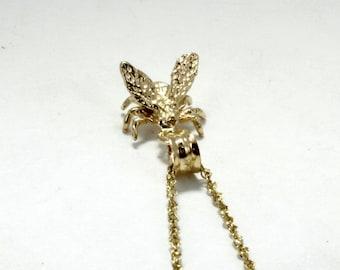 Honey Bee Jewelry, 14kt gold Honey Bee Necklace, honey farmer, Beekeeping gift,beekeeper gift,gardener gift, Gift Mom Gift