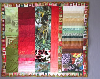 Patchwork medium RABAN MAUR green and Red