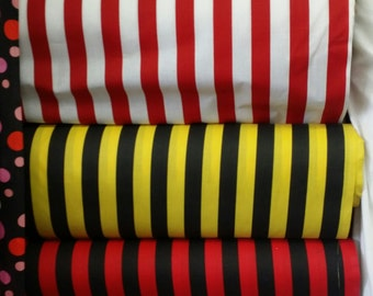 Poly/Cotton 2 color Stripes, 59''Wide, *Sold by the yard*