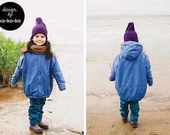 BLUE WATERPROOF PARKA for kids