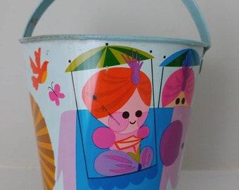 Vintage sand pail. Dial soap promotional item