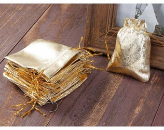 20 Golden 9x7cm packaging pouches bags