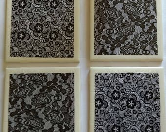 Black Lace Coasters