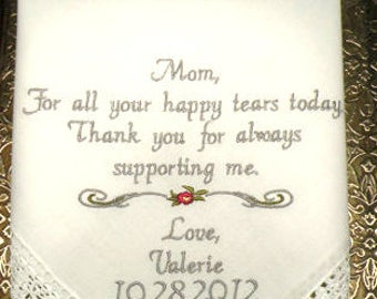 wedding gift personalized, mother of the bride, wedding day gift for mom, For all your Happy Tears