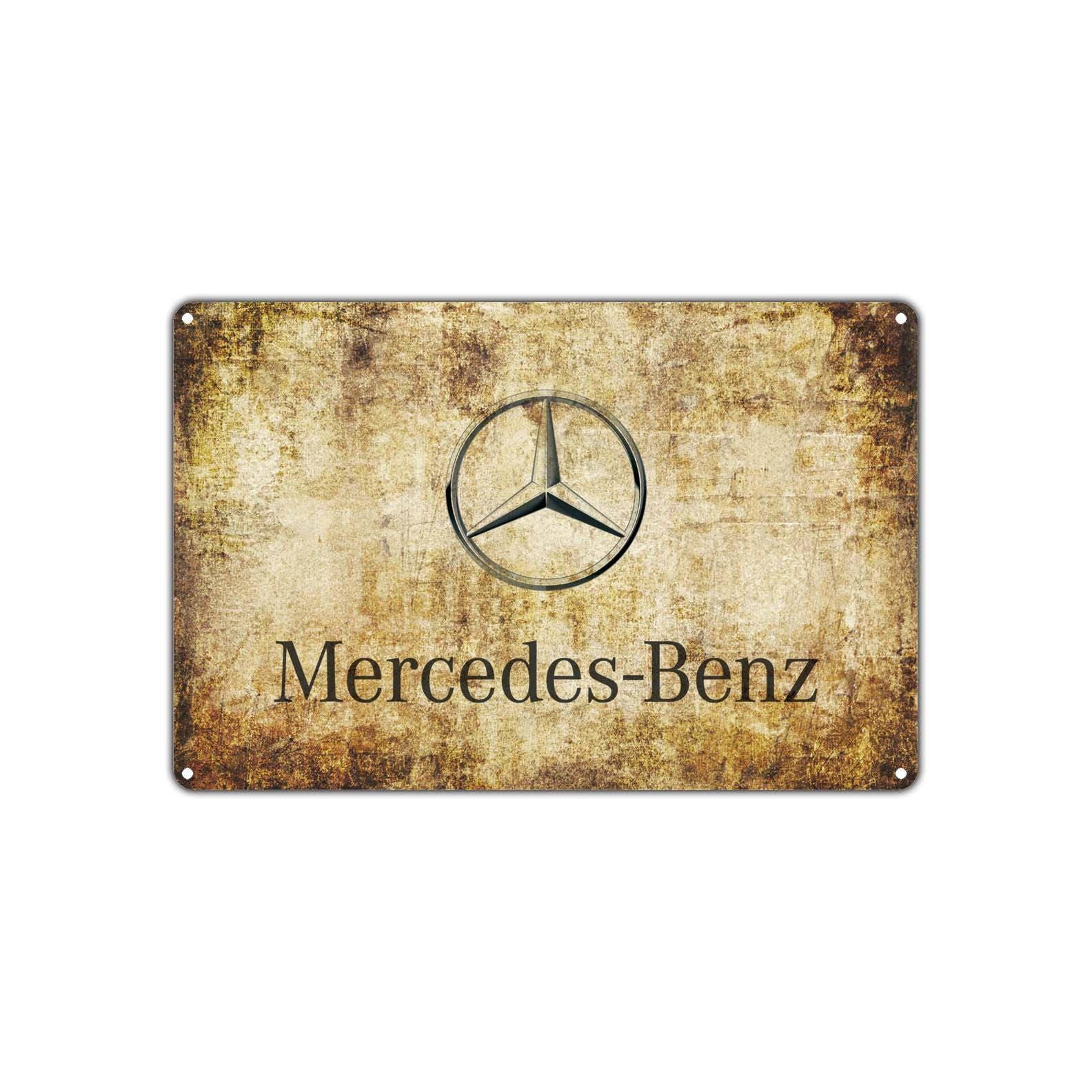 Mercedes Benz Vintage Retro Metal Sign Decor Art Shop Man Cave