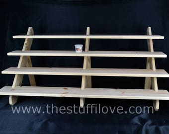 4 Shelf 1 Meter Wide Collapsible Display Stand/Shelves For Craft And Trade Shows Or Shops.
