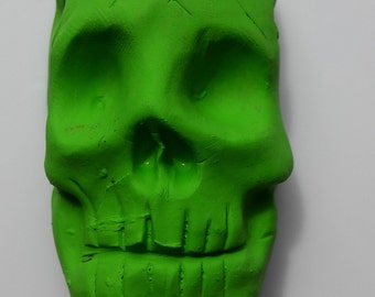 Green Skull necklace pendant