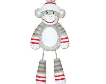Sock Monkey Ornament  Sock Monkey  Stuffed Monkey  Personalized Christmas Ornaments