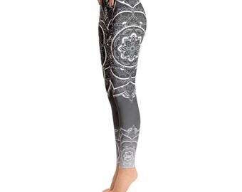 Mandala Yoga Pants, Yoga Leggings, Pixie, Yoga Gift, Tribal, Buddha, Burning Man, Tights, Festival, Leggings, Printed Leggings, Mandala