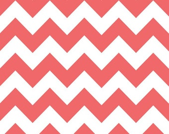 1 yard of Medium Rouge Chevron by Riley Blake