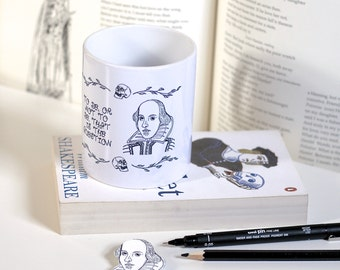 William Shakespeare Mug Shakespeare Mug Hamlet Mug Book Mug Book Lover