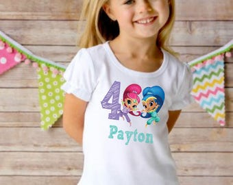Shimmer and Shine Birthday Shirt or dress with name