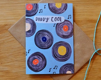 Daddy Cool Illustrated Records Card