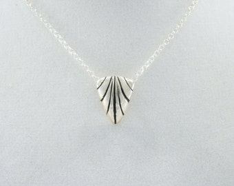 Sterling Silver Shield Necklace