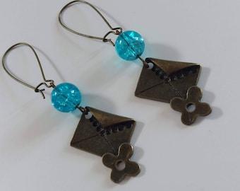 """""""My letters"""" earrings in BRONZE"""