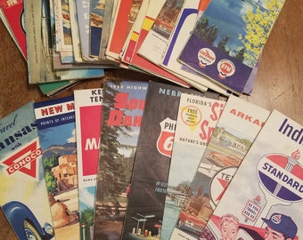 Vintage 1950's and 1960's Gas Station Maps 29