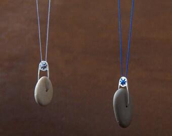 Pebble Wheel_beach pebble from Greece pendant_YDOR collection