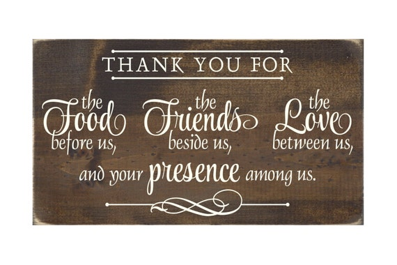 Christian Plaque Rustic Wood Sign Wall Decor Thank You For
