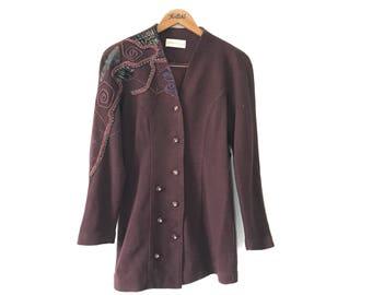 RARE!! 80s Marchioness Stud Vintage Women Blazer Suit Jacket