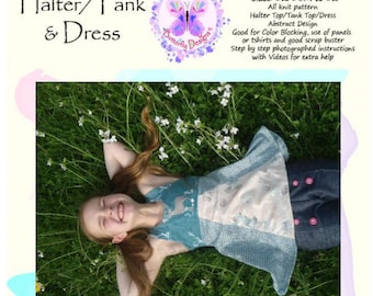 PDF Pattern Smathers Beach Halter and Tank Top with dress option