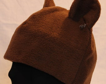 Brown Bear Fleece Hat - NATURAL COLORS