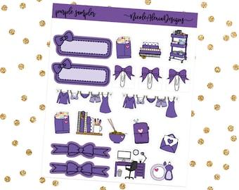 Purple Sampler, Bow Planner Stickers