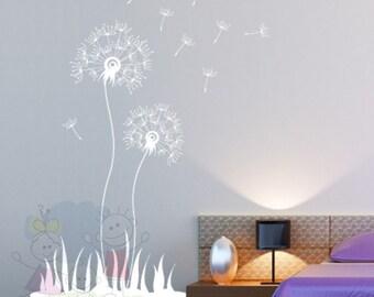 Children Wall Decal Wall Sticker Flying Dandelion - Living Room, Hallway, Decor, Interior Wall Decal - FLDL020