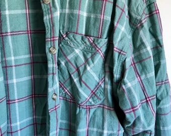 Northcrest green and red plaid flannel.