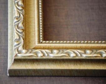 14x 18 to 16 x 20 Ornate Vintage Gold, Silver, Brown Picture Frames, Custom, Readymade, Wall Decor, Home Decor, Art, Photography