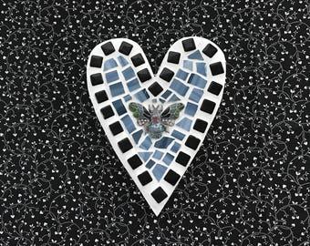 Mosaic Heart ~ Butterfly mosaic