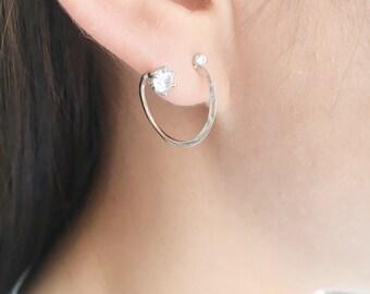 Unique spiral earrings   ear jacket earrings   swirl earrings ear jackets