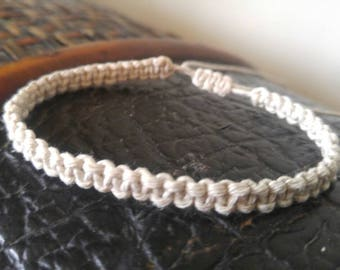 Surfer Hemp Bracelet, Macramé Adjustable Bracelet Handmade, Hemp Jewelry, Ankle Bracelet, His Hers Hemp Bracelet, Hemp Bracelet, Jewelry.