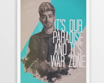 Zayn Malik Printable Art with Pillowtalk quote -INSTANT DOWNLOAD