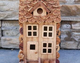 Dormer House, wine cork art