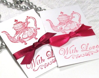 Bridal Shower - Favors - Wildflower Seeds - Hand Stamped packets - Bridal Brunch - Tea - Coffee