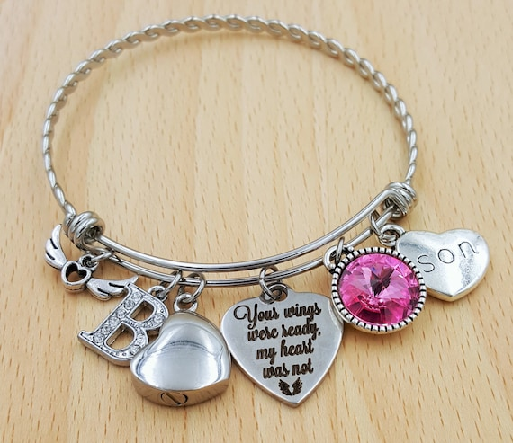 Urn Bracelet Urn Jewelry Sympathy Bracelet Sympathy Gift In Memory of Son Memorial Bracelet Loss of Son Loss of a Child Urn Bracelet Husband