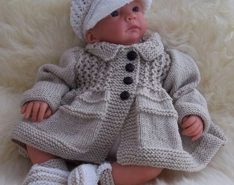 Knitting patterns hand knits for baby by preciousnewbornknits baby knitting pattern download pdf knitting pattern baby boys reborn dolls sweater dt1010fo