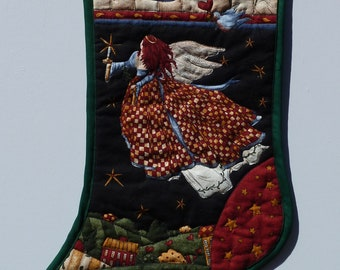Handmade Quilted Christmas Stocking Love
