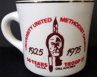 Boy Scouts Troop 37 Coffee Mug 50 Years Tulsa Oklahoma 1975