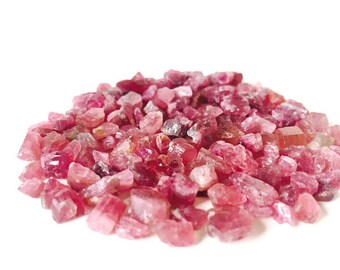 Pink Raw Tourmaline Crystals Tiny Nuggets Rough Small Lot
