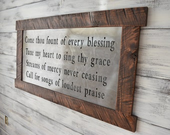 Scripture Art, Metal Signs, Scripture Wall Art, Metal Wall Art, Wall Hanging, Wood Sign, inspirational Sign, Home Decor, Rustic Home, Quotes