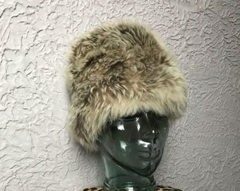 60's Vintage Mod Fur Tuscan Lamb Hat Italy