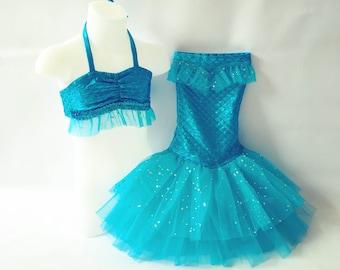 "Little Mermaid Princess Costume for Dress-Up,Portraits or Halloween! ""Aqua"""