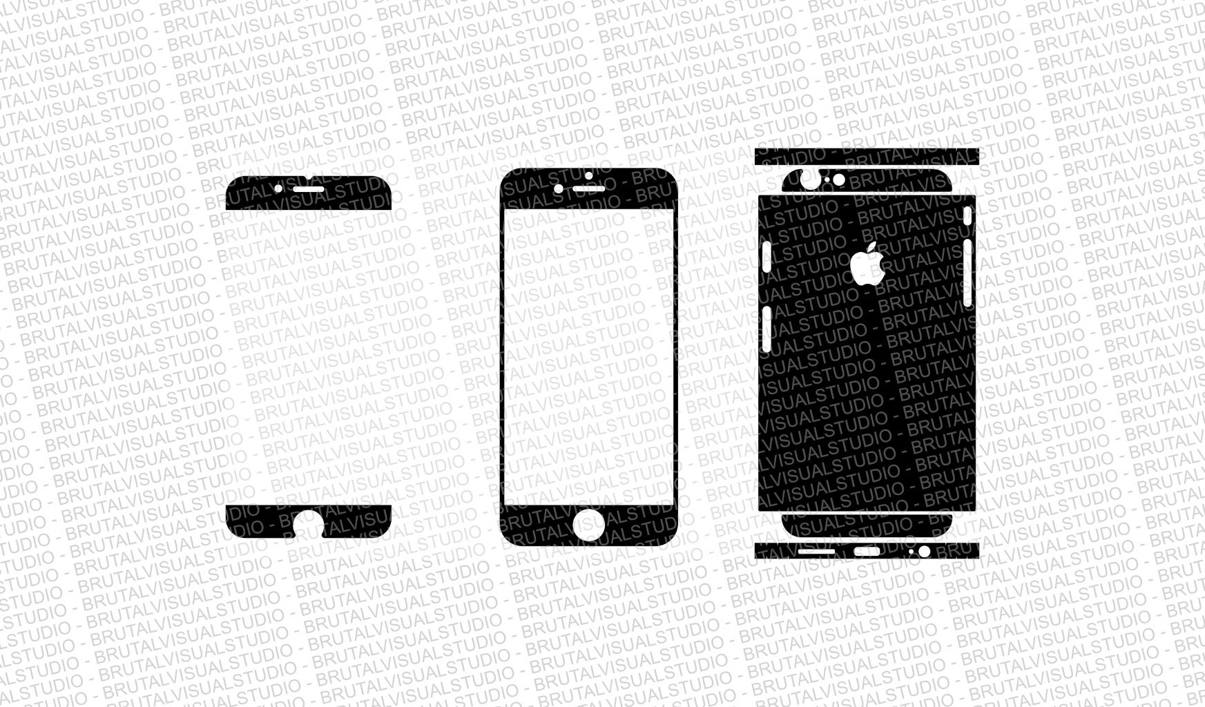 iphone 6s skin cut template ver2 templates for cutting or machining digital download plotter cnc lasers svg partial cuts