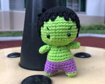 Palm Size Hulk - Crochet Amigurumi (keychain)