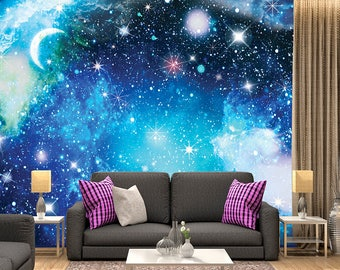 Digital Art, series galaxy, name - Relax 02  / Space Galaxy, Wall Murals, Wallpaper, Stars, Universe, Planet, Space,Peel and Stick