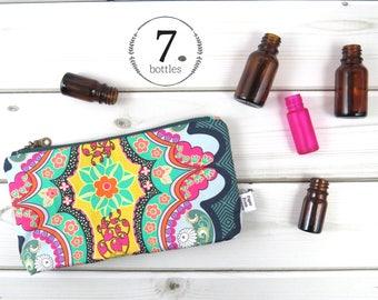 Essential Oil Case, Essential Oil Bag - Brit Boutique - cosmetic bag zipper pouch oil storage, oils clutch