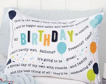 Monogrammed Birthday Pillowcase